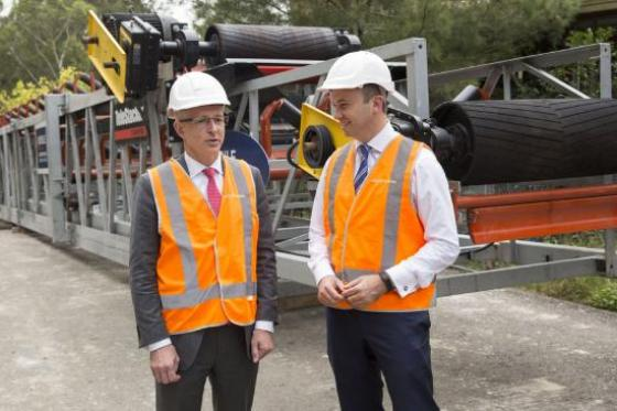 Mr Matt Kean MP Member for Hornsby and Federal Minister for Urban Infastructure at the Hornsby Quarry