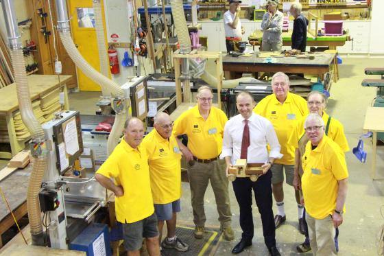 Mr Matt Kean MP at the Hornsby Men's Shed