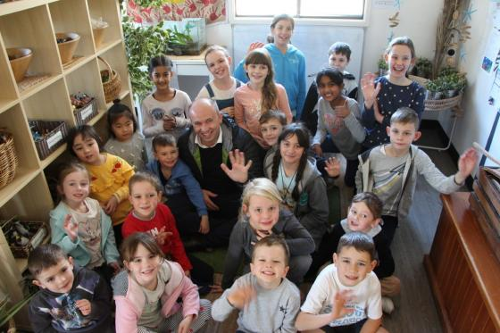 Matt Kean MP at Mount Colah Public School Before and After School Care
