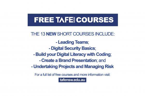 Free TAFE NSW courses