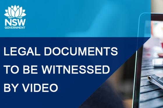 COVID-19: Video tech for witnessing legal documents