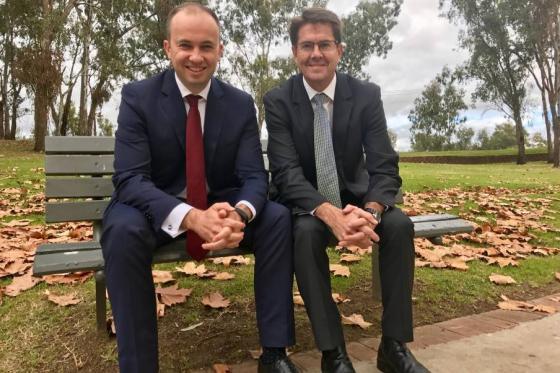 Matt Kean MP and Kevin Anderson MP in Tamworth
