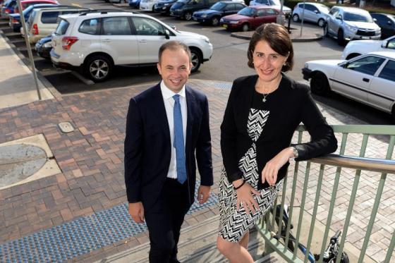 Minister for Innovation and Better Regulation Matt Kean and Premier Gladys Berejiklian
