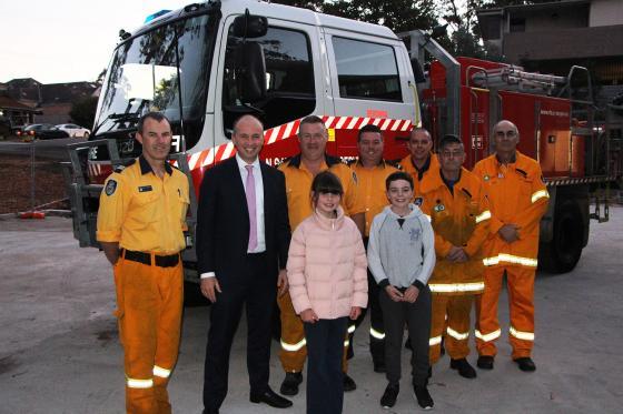 Berowra Rural Fire Brigade and Member for Hornsby Matt Kean MP