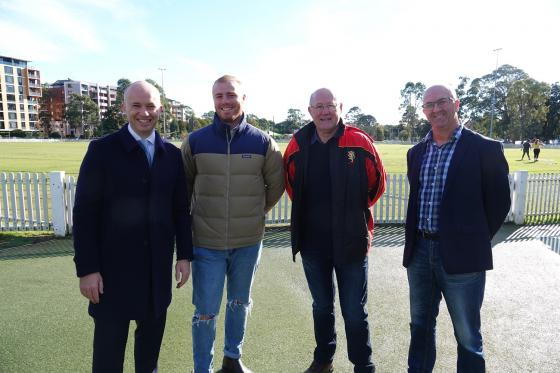 Upgrades to Mark Taylor Oval