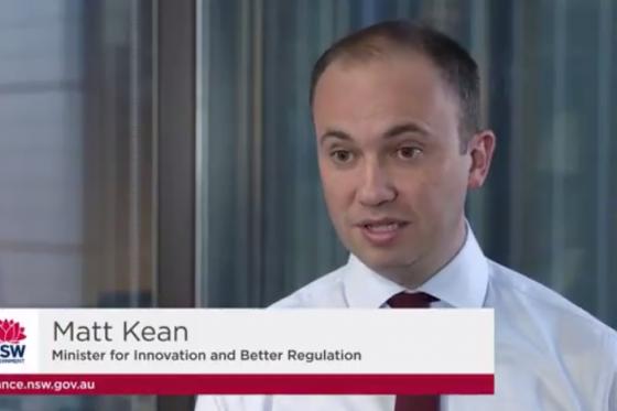 Minister for Innovation and Better Regulation Matt Kean announces Safety Promise