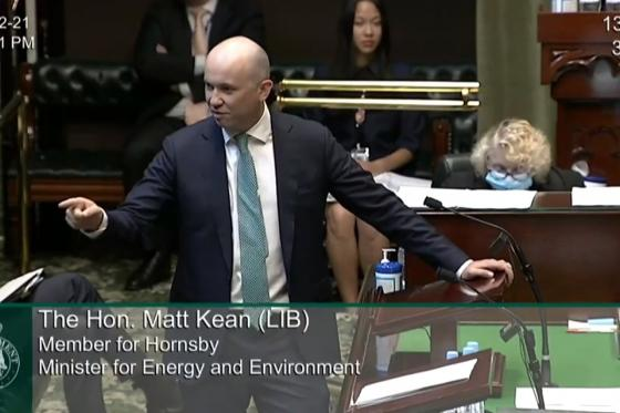Minister Kean in NSW Question time