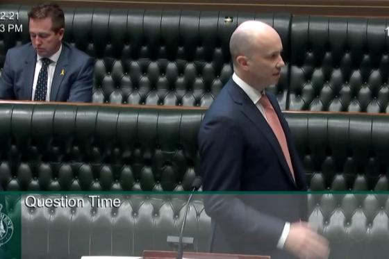 Minister Kean in NSW Parliament Question time