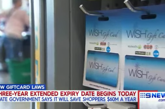 New extended expiry on gift cards