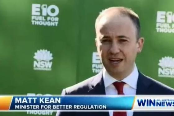 Minister for Innovation and Better Regulation Matt Kean is encouraging drivers to use E10 fuel